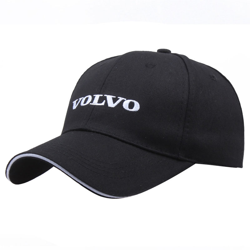 Black Hat Cotton Letter Embroidery Volvo   Baseball     Cap   Snapback Fashion Dad Hats For Men's & Women's Trucker   Caps   Grras bone