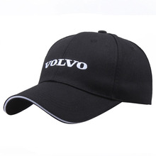 Black Hat Cotton Letter Embroidery Volvo Baseball Cap Snapba
