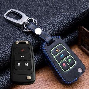 Image 1 - Custodia protettiva per portachiavi in pelle luminosa cucita a mano per buick Chevrolet Cruze Aveo TRAX Opel Astra Corsa Meriva Zafira Antara