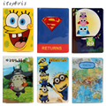 21 Style Hot Sale 3D Character Women Passport Cover PVC Pattern ID Card Document Organizer Travel Holder Russian Passport Case