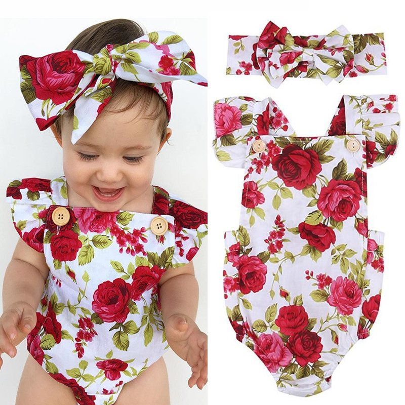 Baby Clothing Newborn Baby Girl Clothes 2018 Summer Kids Floral ...