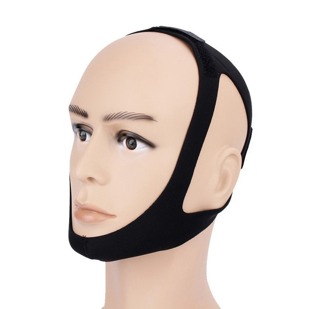 Anti Snoring Belt Triangular Chin Strap Mouth Guard V Face Beauty Tool For Women Men Snore Stopper Bandage Slimming Mask