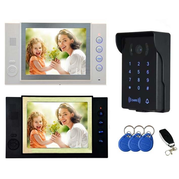 MOUNTAINONE New Arrival 8 Video Door Phone,5-Wired Video Doorbell,700TVL HD Camera;Takin ...