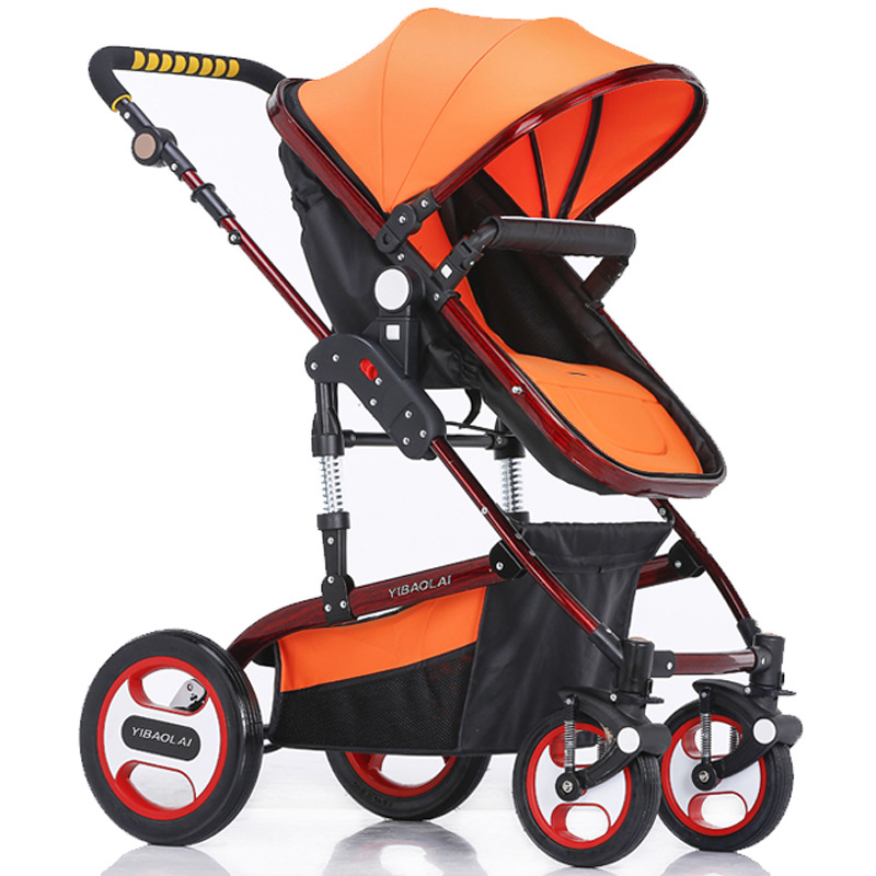 ФОТО 2016 newest 7 colors pram steel frame design baby stroller shockproof the stroller can be folded portable baby carriage stroller