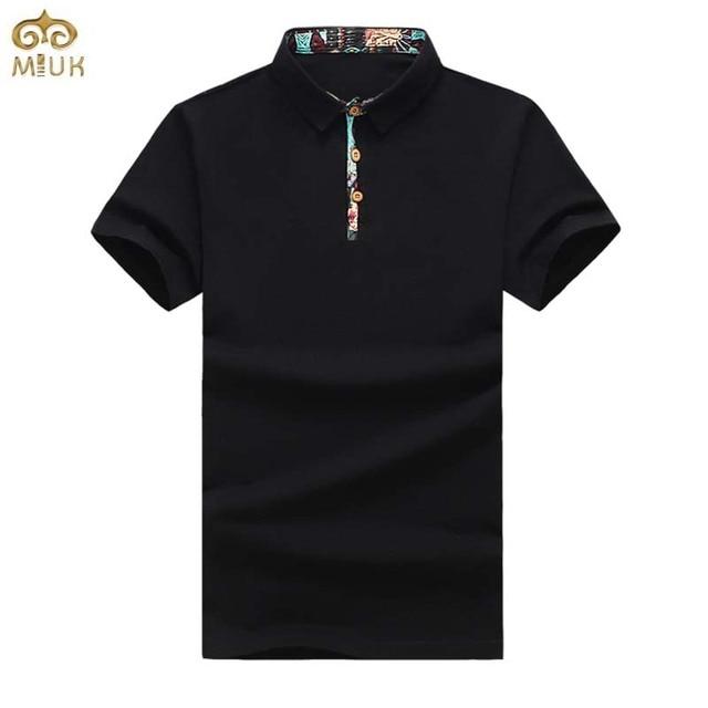 Большой Размер Цветка Мужчины Polo 5XL Лето Национальный Стиль Бренда одежда Хлопок Camisa Polo Masculina Черный Белый Синий Polo 2017 новый