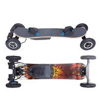 High speed 4 wheels off road electric skateboard/hot sale new product boosted skateboard 4 wheels with remote control