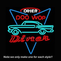 CAR DINER DRIVE THROUGH Game Room Neon Sign Beer Neon Bulb Room Recreation Windows Garage Wall