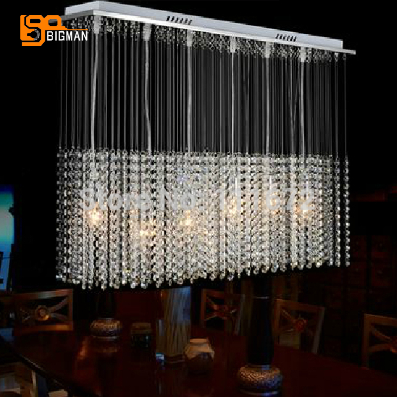 rectangular crystal chandelier lighting font modern linear dining room canada rectangle uk
