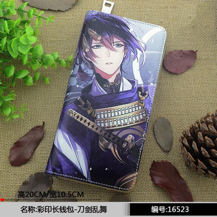 Free shipping Touken Ranbu Online Mikazuki Munechika Cartoon printing man woman fashion Wallet Personalized birthday gift Wallet