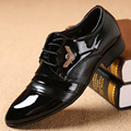 2017 Новый Патент Кожаные Ботинки Мужчины Острым Носом Бизнес Платье дерби Квартиры Узелок Высокая Man Качество Свадебная Обувь Классический стиль