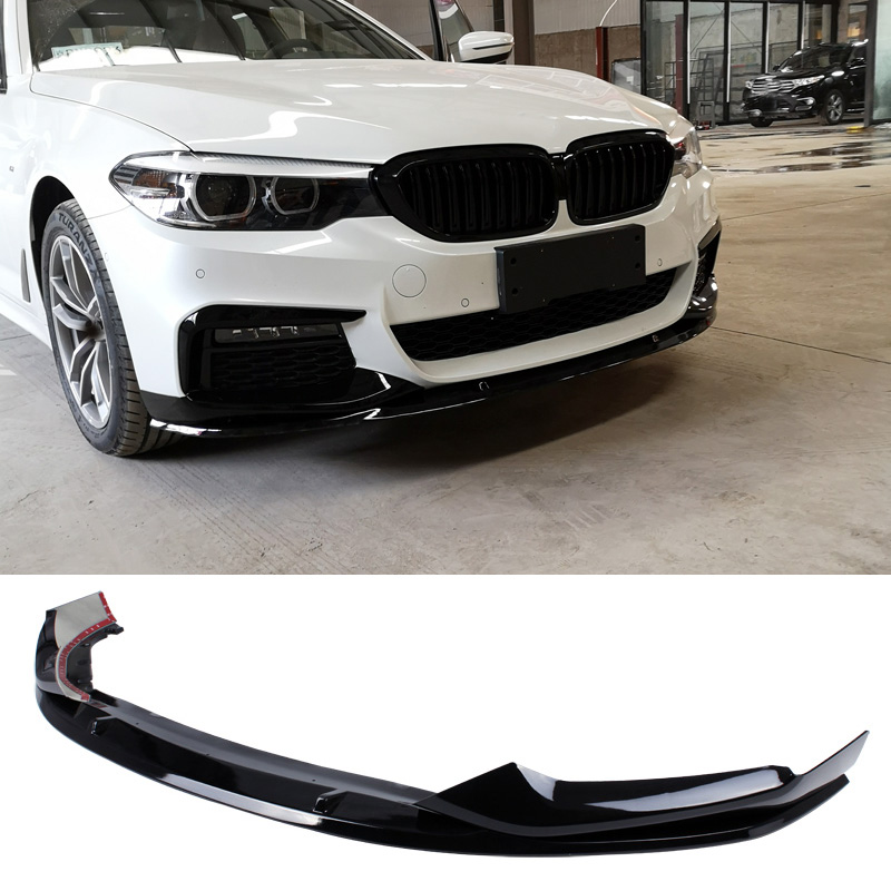 M P Style PP material Bumper Bright black Front Lip For BMW 5 Series G30 G38