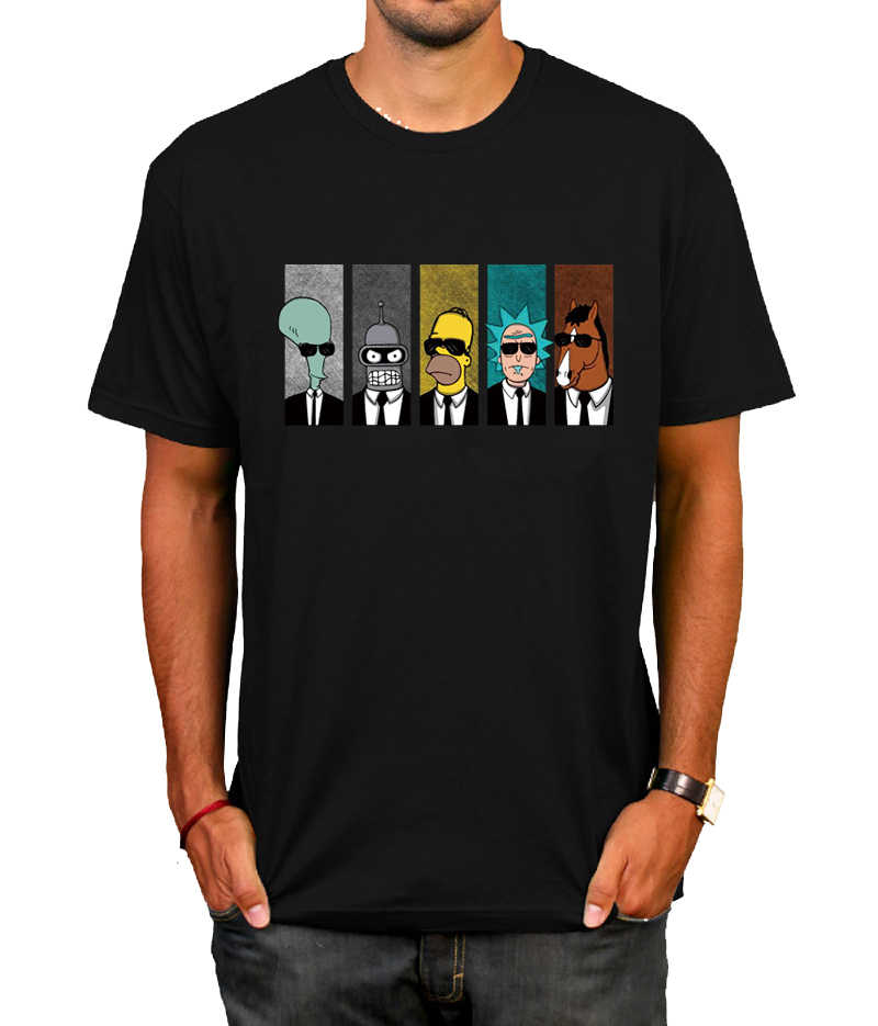 Anime rick morty t-shirt Cool TV Tee Men Tees Shirt Couple Geek BoJack Horseman Short Sleeve T Shirt Boyfriend's Tees camiseta