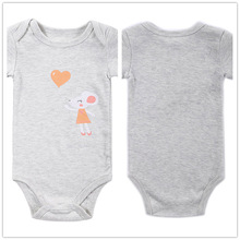 Autumn 1 Piece Cotton Style Baby Girl Boy Clothes Short Sleeve Mouse New Born Body Baby Ropa Character Gray Baby Bodysuit r034