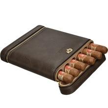 New free ship Travel Cigar Case Mini Humidor Holds 6 Cigars PU Leather and Cedar cohiba case