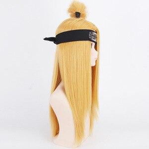 Image 4 - Naruto Akactuki pelucas de Cosplay para hombre, peluca larga de cosplay para halloween, pelucas doradas peluca para disfraz