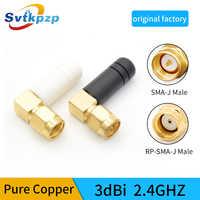 2 uds Mini caucho 3dBi 2,4 ghz WIFI Antena SMA macho Router antenas Bluetooth módulo inalámbrico 2,4g Antena externa