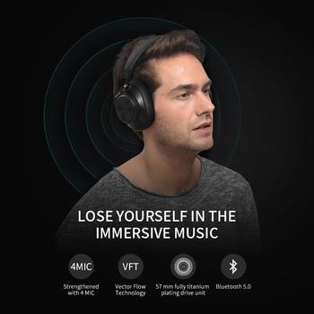 Bluedio T6S Bluetooth Casque Active Noise Sans Fil Casque pour téléphones et musique avec commande vocale 1