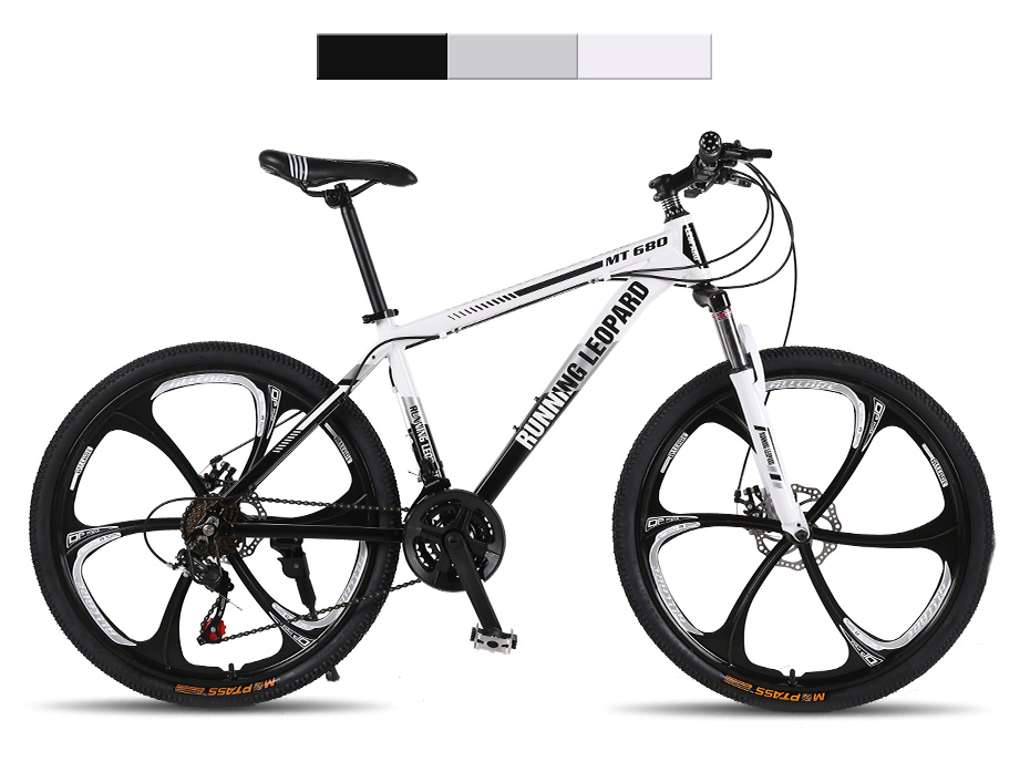 HTB1lF9ohmzqK1RjSZFHq6z3CpXaA Running Leopard mountain bike 26-inch steel 21-speed bikes double disc brakes variable speed road bikes racing bike