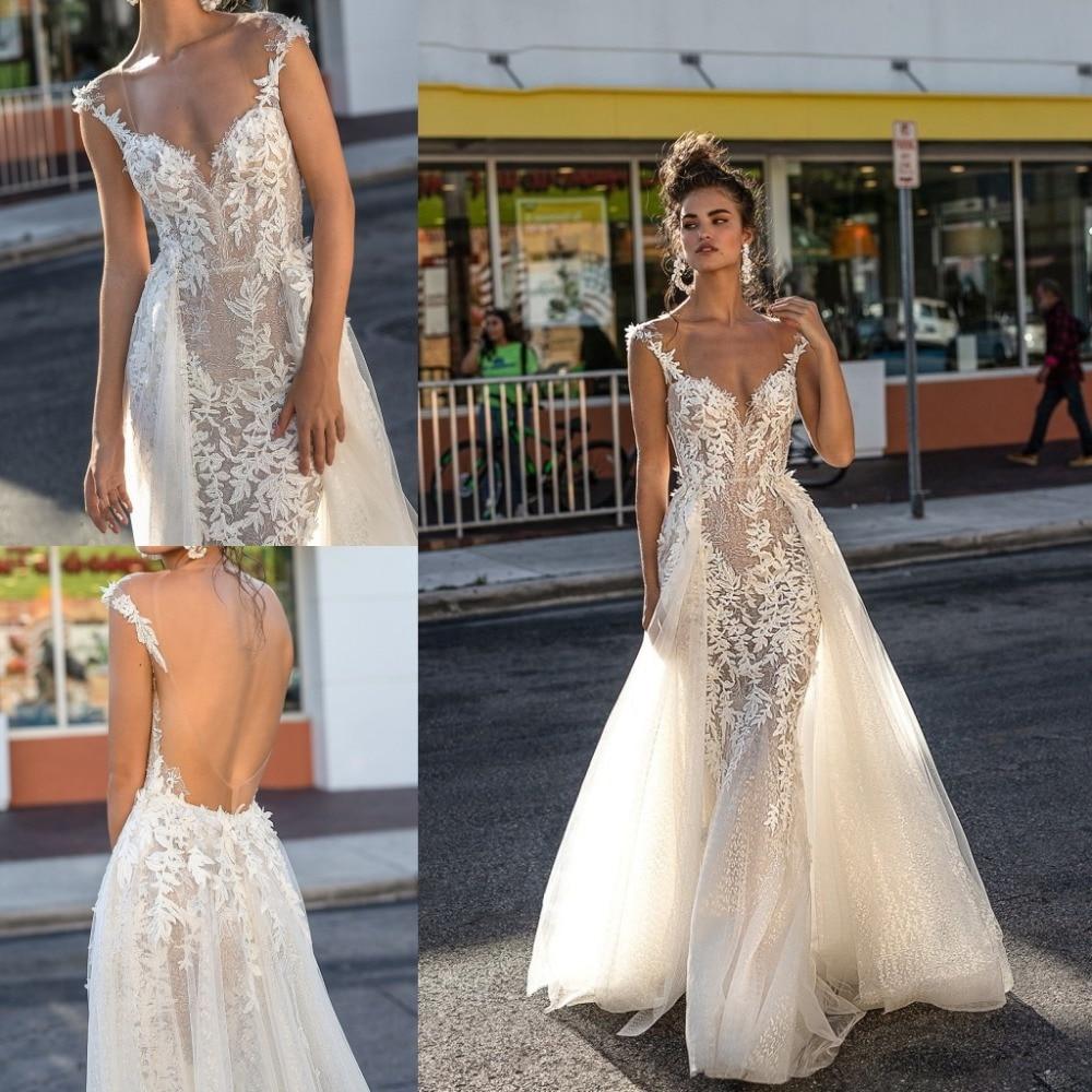 Custom Made Mermaid Wedding Dress With Detachable Train