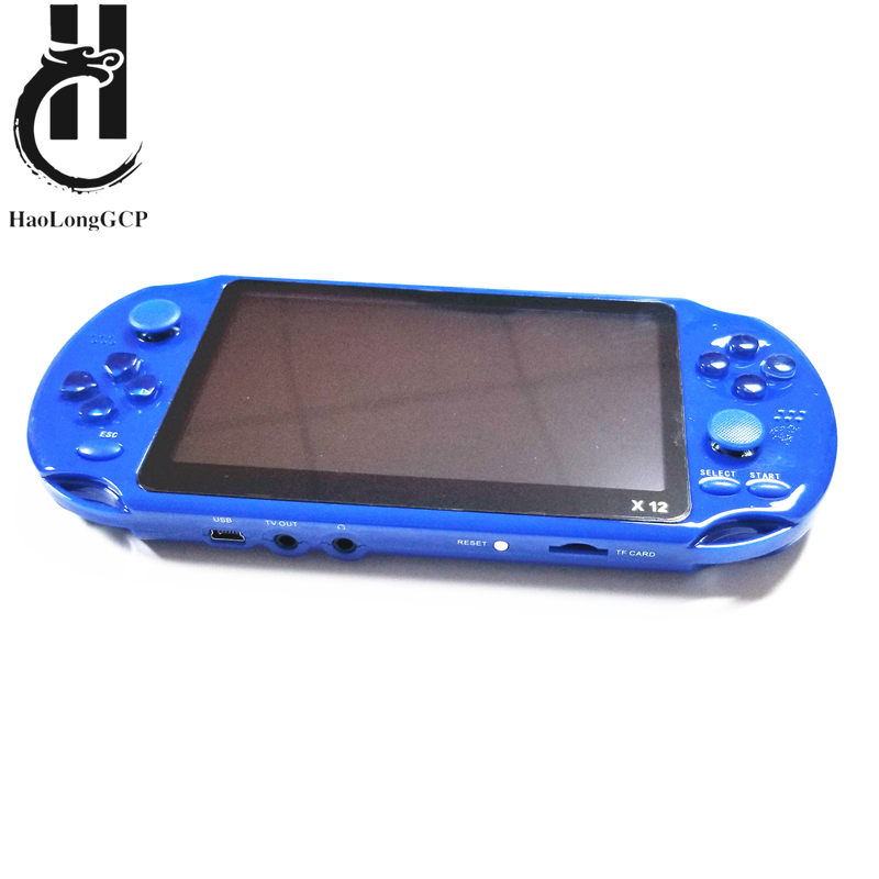 Upgraded version X12 game console 5 inch portable handheld retro video game machine with 1000 8