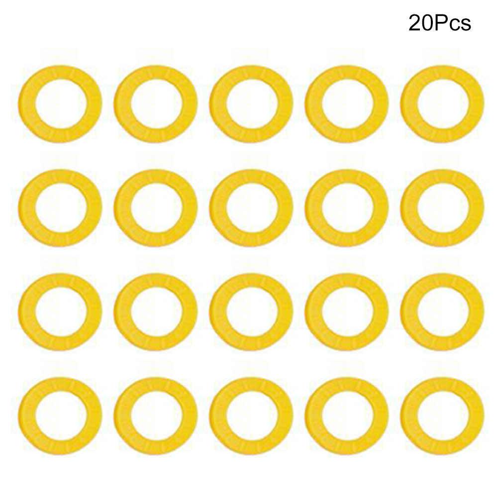 20/24/32 قطعة العلامات Keyrings سيليكون دراجة مفتاح غطاء مطاطا للسيارة معرف جولة الجوف دراجة نارية مفتاح تحديد غطاء