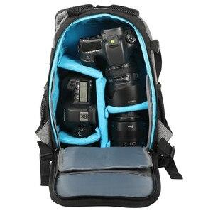 Image 2 - Сумка для камеры DSLR, рюкзак на плечо, водонепроницаемый, ударопрочный, Противоугонный, дорожный штатив, сумки, чехол для Canon, Nikon, Sony SLR