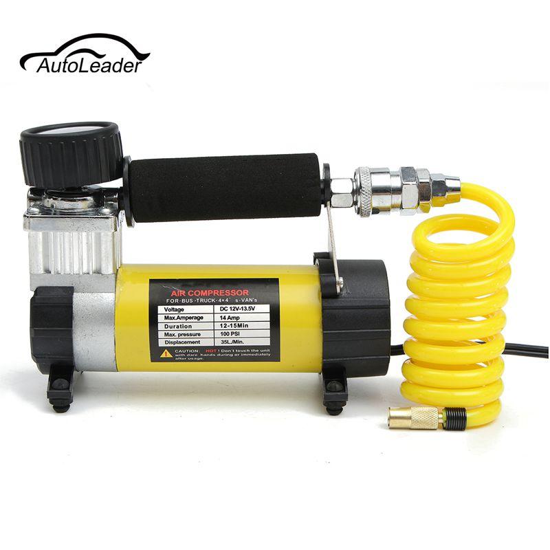 1 ensemble compresseur d'air pour voiture Portable 12 V 100 PSI jauge pneu gonfleur pompe à pression