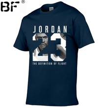 2018 New Brand Clothing Jordan 23 Men T-shirt Swag T-Shirt Cotton Print Men T shirt Homme Fitness Camisetas Hip Hop Tshirt(China)