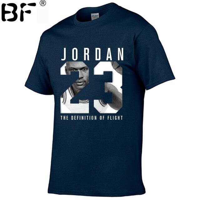 2018 nowy marka odzież Jordan 23 mężczyźni koszulka Swag koszulka bawełna drukuj mężczyźni T shirt Homme Fitness koszulki Hip Hop tshirt