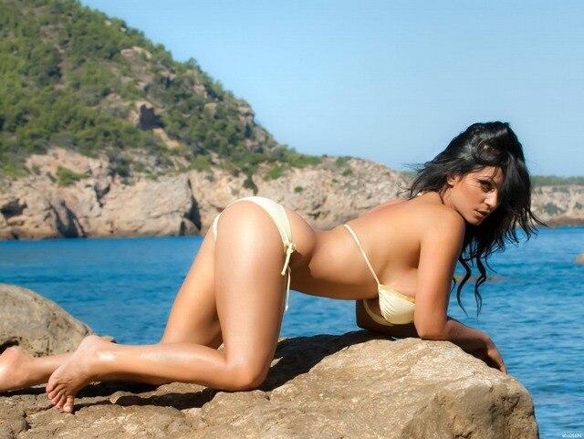 Denise Milani Busty Brunette Butt Bikini Art Huge Print Poster Txhome D4076