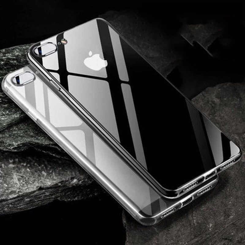 Clear Telefoon Case Voor Iphone 11 Pro Max 6 6S 7 8 Plus Xs Max Xr X Slim Case Soft tpu Niet Vergeling Transparant Siliconen Case Capa