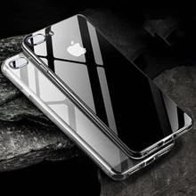 Wyczyść etui na telefon iphone 11 Pro Max 6 6S 7 8 Plus XS MAX XR X smukła obudowa miękka TPU nie żółknąca przezroczysta silikonowa obudowa Capa tanie tanio HTMOTXY Aneks Skrzynki Transparent Plain Glossy High Quality TPU fashion Ultra-thin Simple Samsung GALAXY S10E Galaxy S7