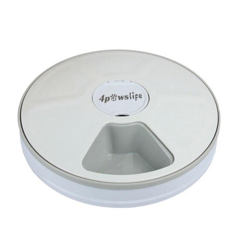 Minuterie numérique Ronde Automatique mangeoire pour animal domestique 6 Repas Distributeur De Nourriture Pour Chiens Et Chats - 3