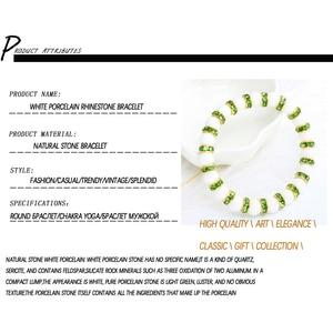 Image 5 - 11 Style Natural Stone Chakra Elastic Bracelet Men White Porcelain Healing Balance Beads Reiki Buddha Prayer Bracelet For Women