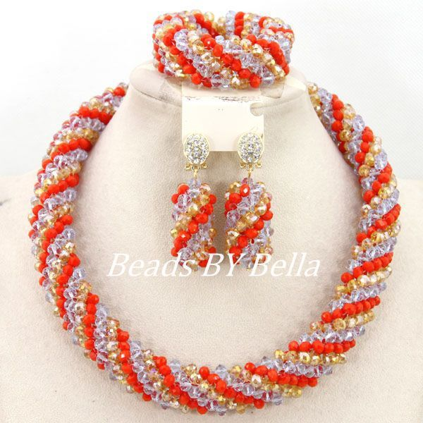 Handmade African Jewelry Sets Nigerian Beads Necklaces Bridals