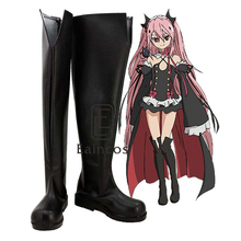 font b Anime b font Seraph of the End Krul Tepes Black High Boots font