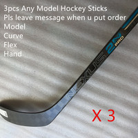 Hockey Stick Wholesale 3pcs/lots Various Model Curve Flex Senior Carbon Ice Hockey Sticks Free Custom Player Name