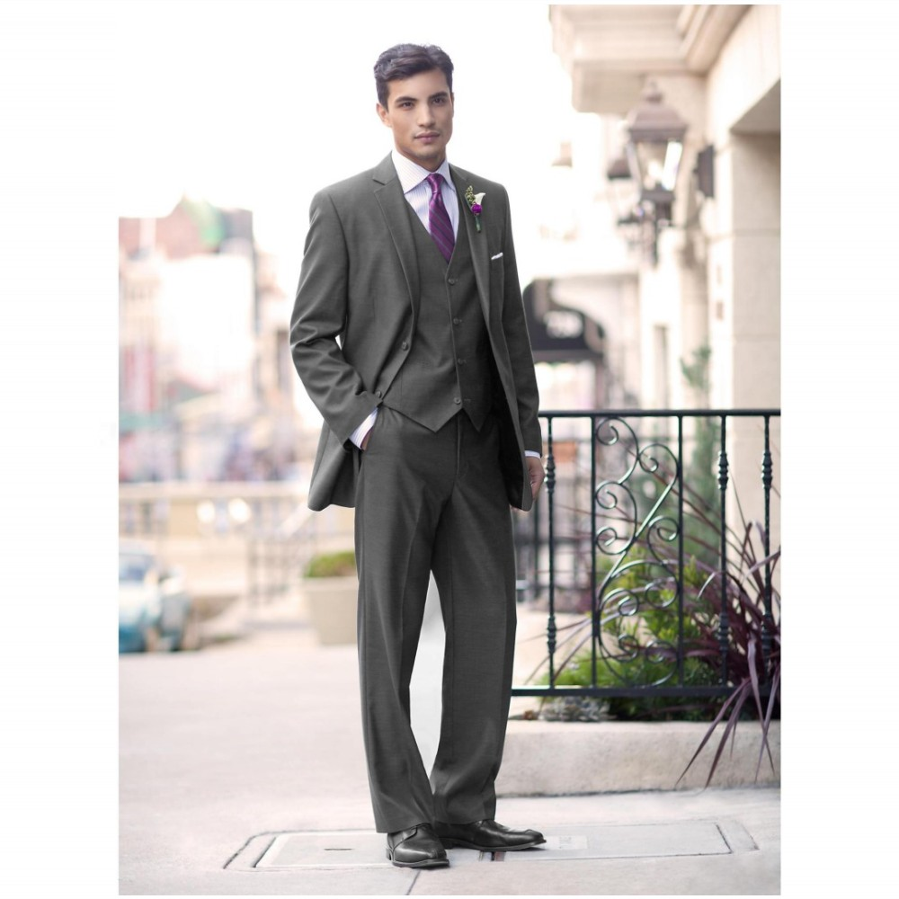 Online Buy Wholesale wedding suits for men grey and purple from