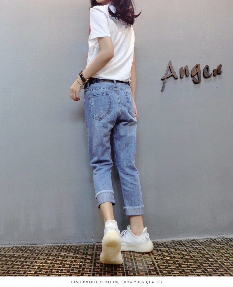 Summer Two Piece Sets Women Plus Size Short Sleeve Sequins Tshirts And Denim Ripped Jeans Sets Suits Casual Women's Sets M-5xl 27