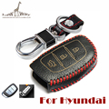 Upgrade Car Flip Remote Cover for Hyundai Mistra /Elantra IX35/Sonata 8/Leather Key Cover/Key Chain for Hyundai Free Shippment