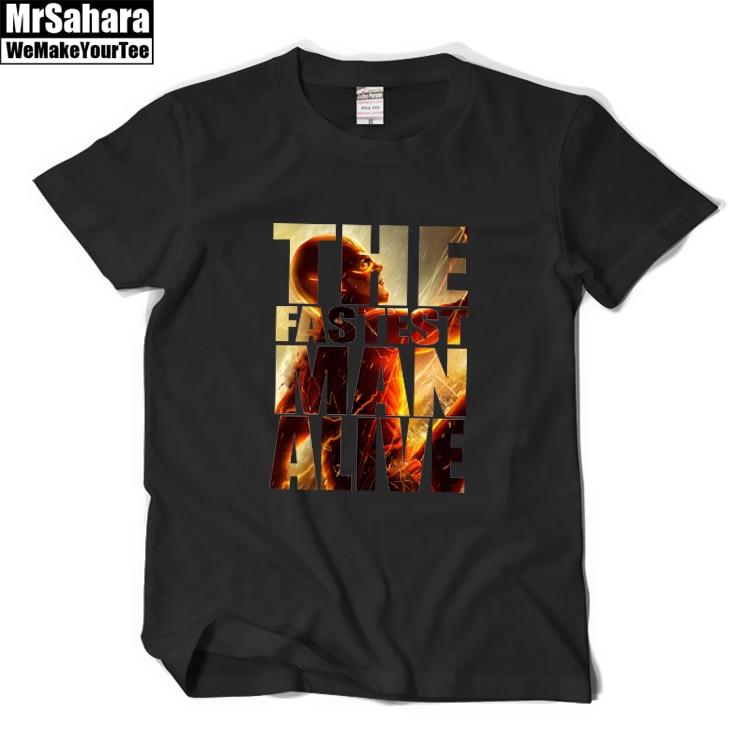 Dc comic  superhero the flash s.t.a.r tshirt flash comics t-shirt men casual mens t shirts fashion 2016 cheap male clothing-2