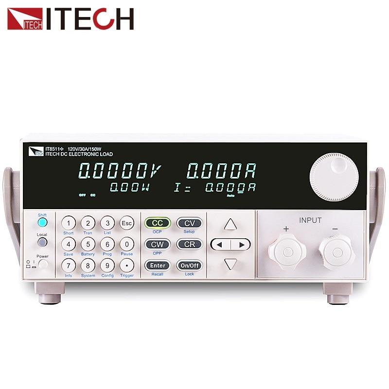 ITECH IT8511+ DC electronic load 150W/120V/30A Laboratory power supply Load meter itech celb 22nl для 13 37 черный