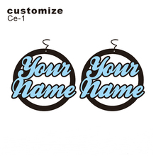 Personalised round name earrings – laser cut acrylic jewelry