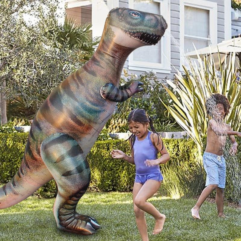 1.8 M Dino Herbe Eau Pulvérisateur Arrosage Enfants Piscine Gonflable Jouets Sports de Plein Air Ginormous T-Rex Dinosaure Cour D'arrosage Splash