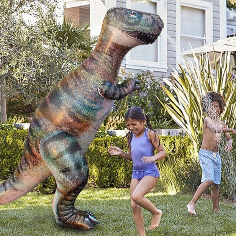 1.8M Dino herbe pulvérisateur d'eau arroseur enfants gonflable piscine jouets Sports de plein air Ginormous t-rex dinosaure Yard arroseur Splash