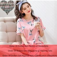 Bran New Cotton Nightgown Women Sweet Girl Lounge Cute Nightdress Sleepwear Summer Home Dress Casual Nightwear Sleepshirts Shirt