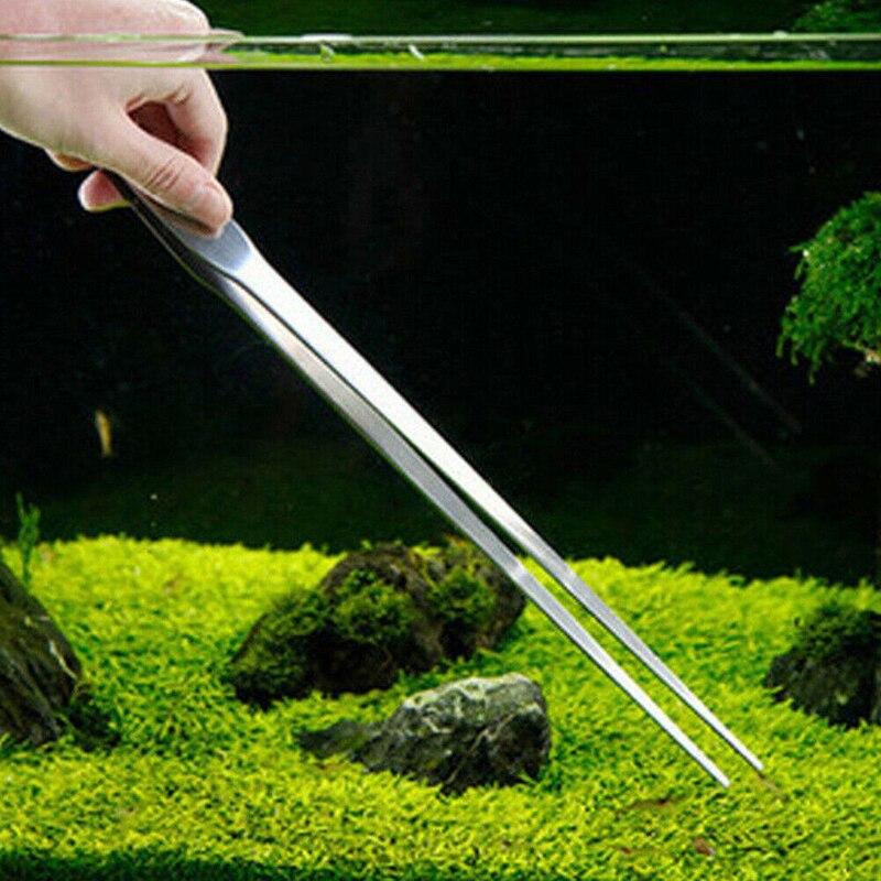 1Pc Aquarium Stainless Steel Scissor Tweezer Algae Clean Sand Scrape Maintenance Tool Water Plant Tank Aquarium Accessories