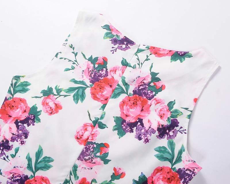 Ufficio Retro Wanita : 2017 women vintage 50s 60s rockabilly office dresses pinup floral