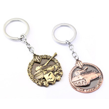 3 Colors World of Tanks Key chain Metal Key Rings For Gift Simulated Tanks Keychain Jewelry