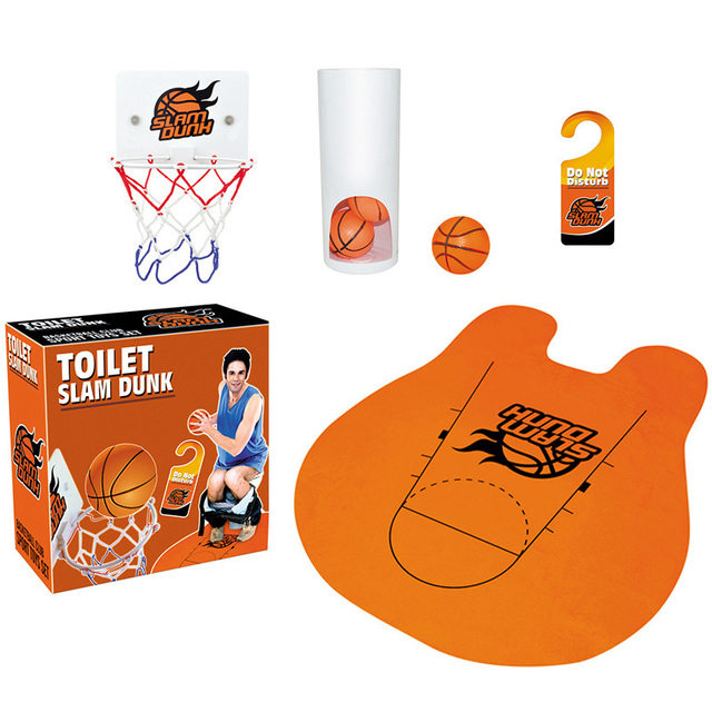 2018 NEW HOT Toilet Basketball Sets Adult Kids Toy Sports Indoor Training  Men Boy Funny Games Party Santa Gift Creative Product
